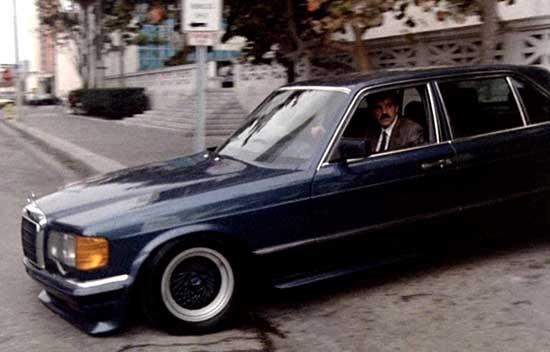 Mercedes benz 500 sel w126 in miami vice for Mercedes benz in miami