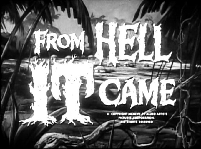 Image result for from hell it came title screen