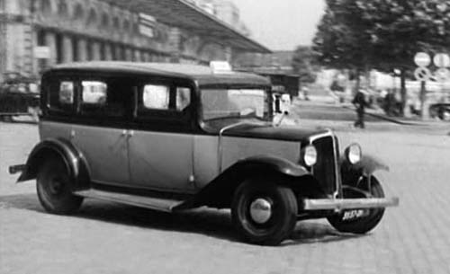 1933 renault taxi g7 type kz11 in taxi roulotte et corrida 1958. Black Bedroom Furniture Sets. Home Design Ideas