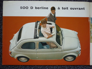 1961 fiat 600 d toit ouvrant 100d in ho. Black Bedroom Furniture Sets. Home Design Ideas