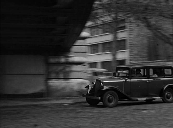 1933 renault taxi g7 type kz11 in les diaboliques 1955. Black Bedroom Furniture Sets. Home Design Ideas