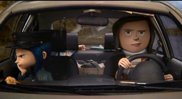Coraline on Car Dashboard Full