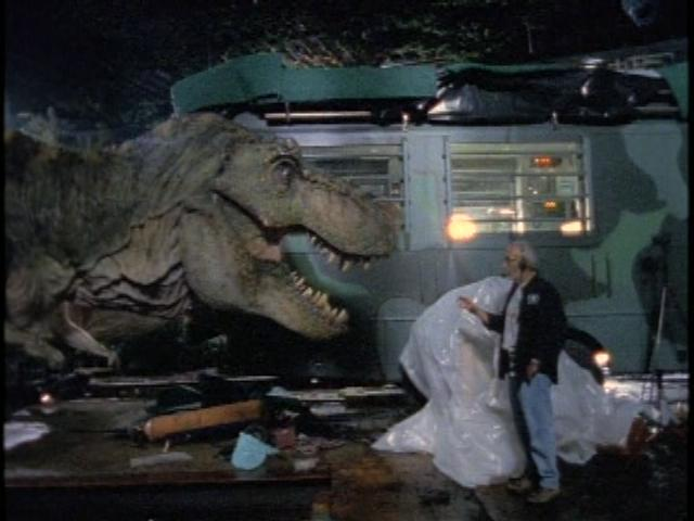 Image result for lost world jurassic park 1997 behind the scene