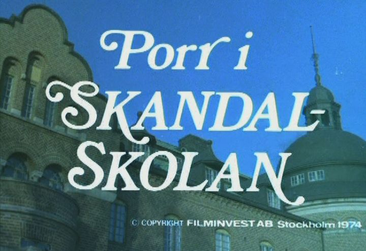 Skandalskolan film