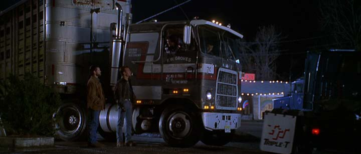black dog movie truck chase