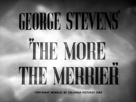 Image result for The More The Merrier 1943